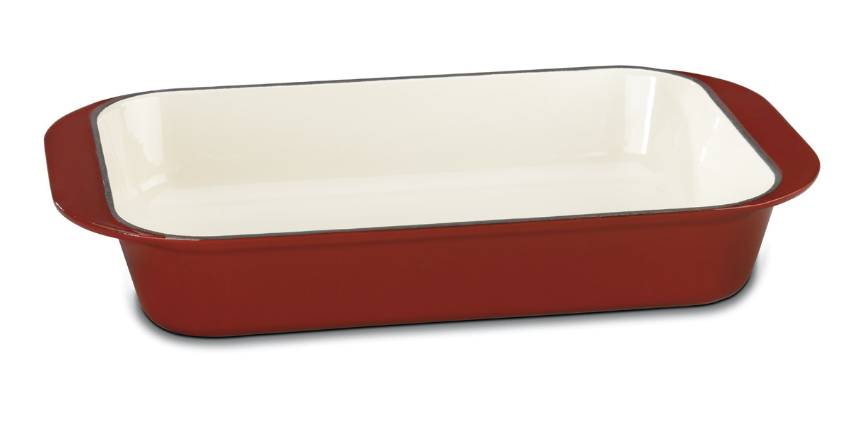 Cuisinart Ci1136-24cr Chef's Classic Enameled Cast Iron 14-Inch Roasting/Lasagna Pan
